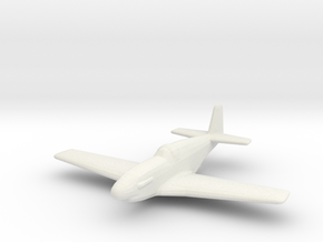 North American P-51C 'Mustang' in White Natural Versatile Plastic: 1:200