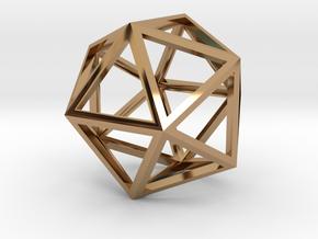 Icosahedron Pendant in Polished Brass