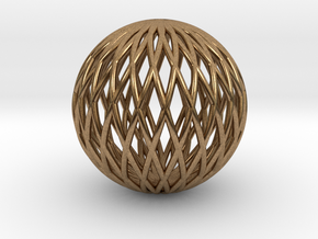 Math Sphere in Natural Brass