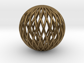 Math Sphere in Natural Bronze