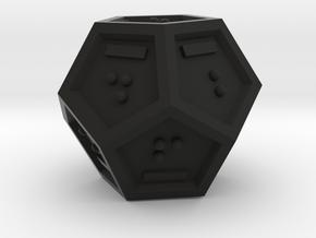 Braille D12 Mark II in Black Natural Versatile Plastic
