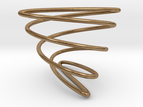 Math Spring (Lissajou Curve) in Natural Brass