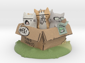 Box of Jerk Cats by Katie Cooke in Full Color Sandstone