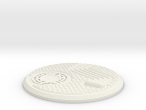 55mm Industrial Sci-Fi Base Plate in White Strong & Flexible