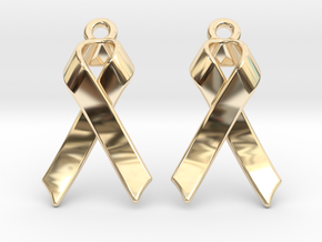 Classic Ribbon Earrings in 14k Gold Plated Brass