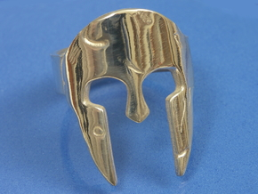 Spartan Ring Size US12 in Polished Silver