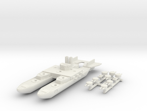 Netherlands Evertsen Class Catamaran Battlecruiser in White Natural Versatile Plastic