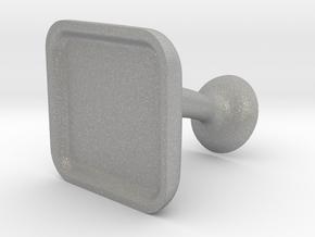 Custom Cufflink #02 - Square in Aluminum