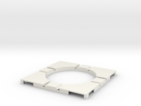 T-14-wagon-turntable-48d-100-corners-flat-1a in White Natural Versatile Plastic