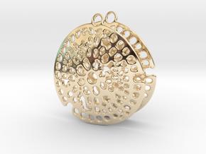 Radiolarian earrings in 14K Yellow Gold