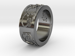 'Beautiful Love' Ring--look great on a chain! in Polished Silver: 6.5 / 52.75