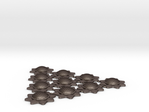 Stackable Shield Token 10 Pack X-Wing Miniatures in Polished Bronzed Silver Steel