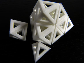 Octahedra and tetrahedra in White Natural Versatile Plastic