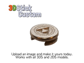 3DStick Custom (3DS Circle Pad) in Polished Bronzed Silver Steel