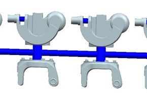 1/72 scale Mh-60  Rotor hinges in Smooth Fine Detail Plastic