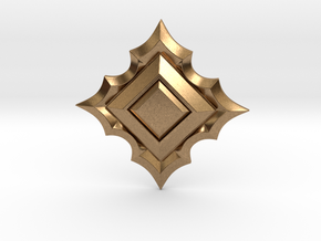 Jeweled Star 01 - 50mm in Natural Brass