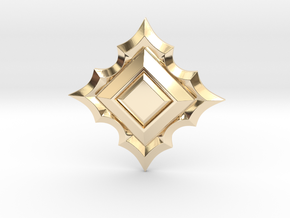 Jeweled Star 01 - 50mm in 14k Gold Plated Brass