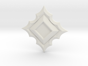 Jeweled Star Empty - 40mm in White Natural Versatile Plastic