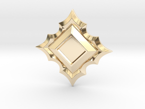 Jeweled Star Empty - 40mm in 14k Gold Plated Brass
