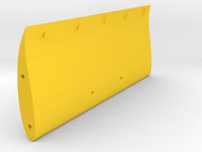 "Speed run ""High Speed"" rear wing, V2 Vortex Gens in Yellow Processed Versatile Plastic"