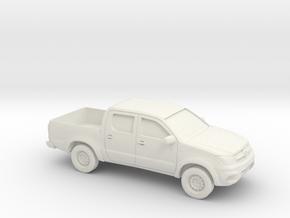 1/87 2005-14 Toyota Hilux in White Natural Versatile Plastic