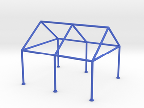 Tent Frame Scale Model reinforced in Blue Processed Versatile Plastic