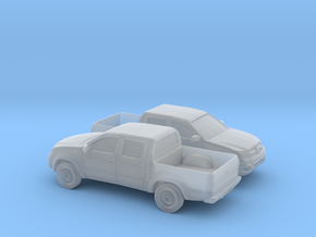 1/148 2X 2005-14 Toyota Hilux in Smooth Fine Detail Plastic