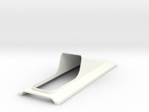 Engine Cover Opaque in White Processed Versatile Plastic