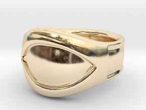 """""""All Seeing Eye"""" Ring, Size 10, Left eye in 14K Yellow Gold"""