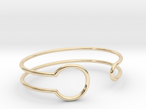 Witness Bracelet in 14k Gold Plated Brass: Small
