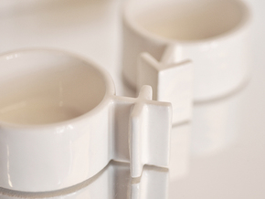 Couple Cups (Female) in White Natural Versatile Plastic