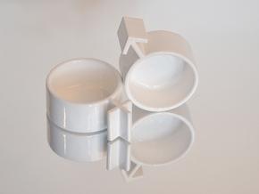 Cuple Cups (male) in White Natural Versatile Plastic