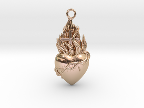 PITTI Big Pendant in 14k Rose Gold Plated Brass