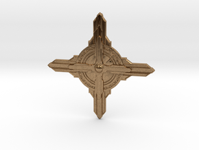Jeweled Star 02 - 40mm in Natural Brass