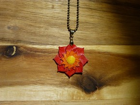 Lotusblüte Anhänger Lotusflower Pendant in White Strong & Flexible