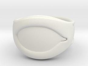 """All Seeing Eye"" Ring, Right eye in White Natural Versatile Plastic: 6 / 51.5"