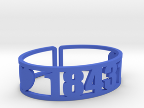 Indian Head Zip Cuff in Blue Processed Versatile Plastic