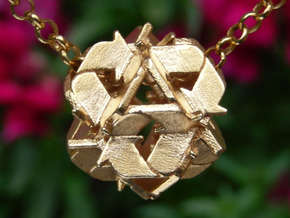 Recycling Pendant (21mm) in Raw Brass