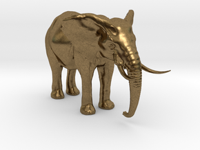 African Alpha Elephant in Natural Bronze