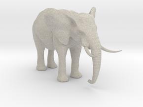African Alpha Elephant in Natural Sandstone