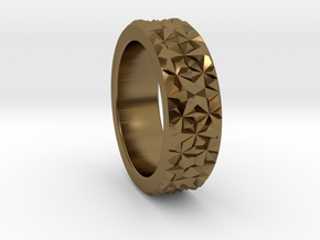 Light Reflection Ring in Polished Bronze