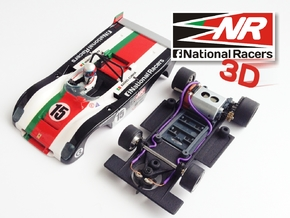 3D chassis - Sloter Ferrari 312 PB (SW) in Black Strong & Flexible