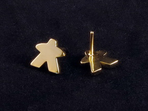 Meeple Earrings (studs) in 18k Gold Plated