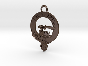 Clan Matheson key fob in Polished Bronze Steel