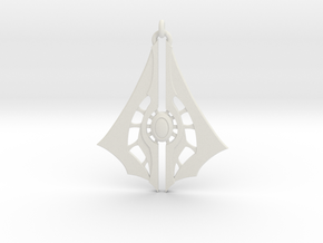 Arrow 01 - 60mm in White Natural Versatile Plastic