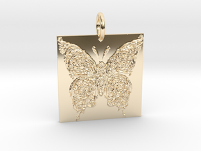 Flutter in 14k Gold Plated Brass