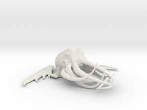 Cthulhu Charm in White Natural Versatile Plastic