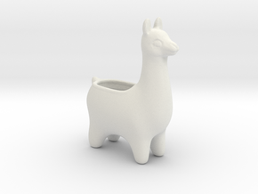 Llama Planters - Small in White Natural Versatile Plastic