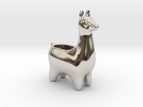 Llama Planters - Small in Rhodium Plated Brass