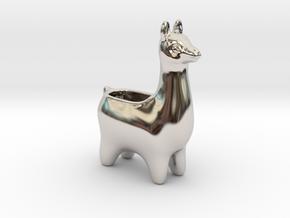 Llama Planters - Small in Rhodium Plated Brass
